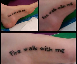 art, foot, and lettering image