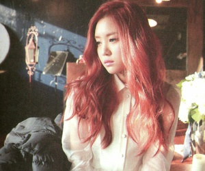 beautiful, red hair, and apink image