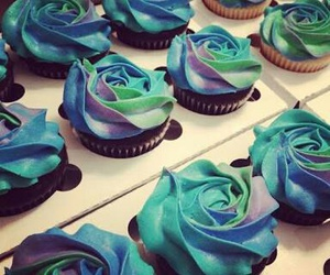 blue, creative, and cupcake image