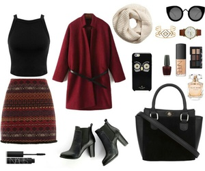 aztec, burgundy, and fall image