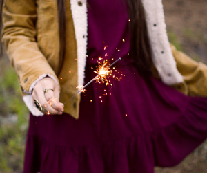 sparkler, girl, and beautiful image