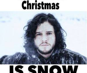 game of thrones, christmas, and snow image