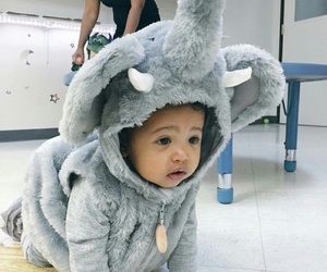 baby, costume, and elephant image