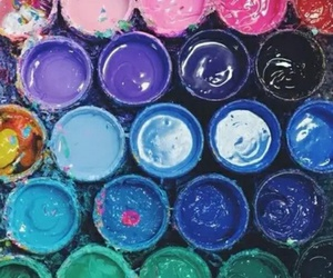 colors, paint, and art image
