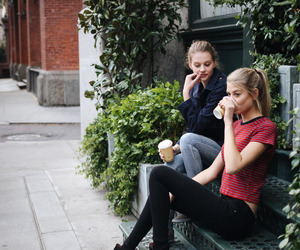 best friends, bffs, and coffee image