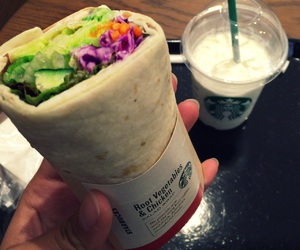 cafe, frappuccino, and lunch image