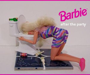 barbie, party, and funny image