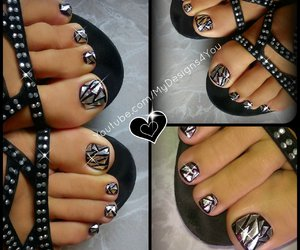 beauty, pedicure, and nail trend image