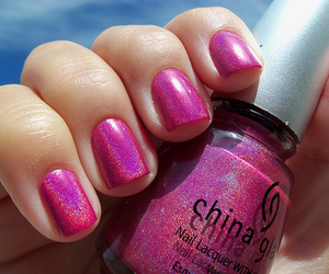 nails, pink, and esmalte image