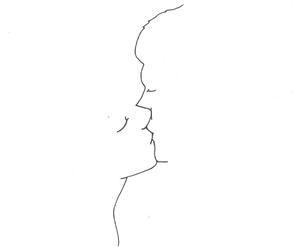 love, kiss, and drawing image