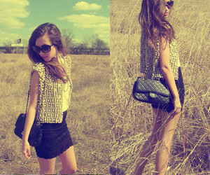 fashion, girl, and nature image