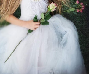bridesmaid, fairytale, and flowers image
