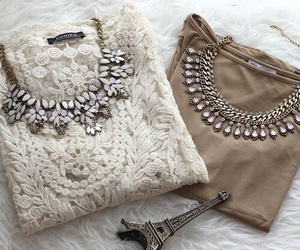 fashion, necklace, and paris image