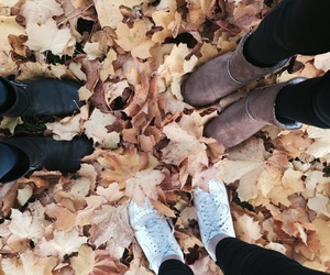 fall, girl, and shoes image