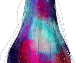 hair, girl, and anime image