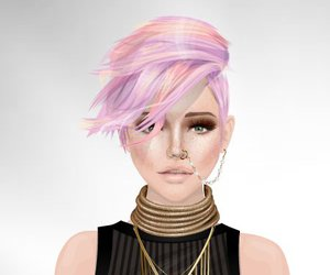 beautiful face, style, and stardoll image
