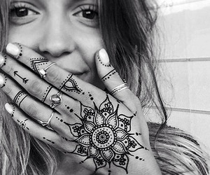 henna, tattoo, and cute image