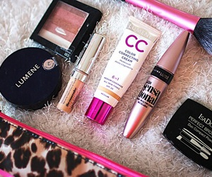 girl, makeup, and mascara image