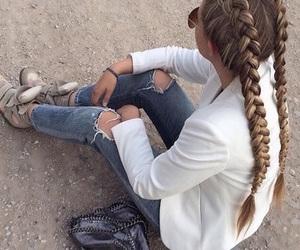 fashion, braid, and girl image