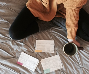 coffee and studying image