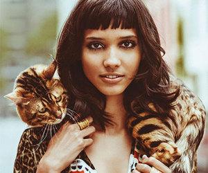 straight bangs, leopard coat, and cora emmanuel image