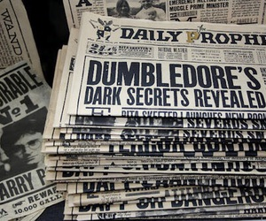 harry potter, dumbledore, and book image