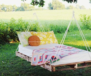 hanging bed and swing bed image