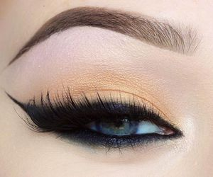 make up, eyebrows, and eyes image