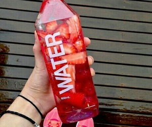 water, strawberry, and fitness image
