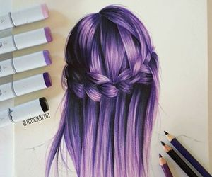 hair, art, and drawing image