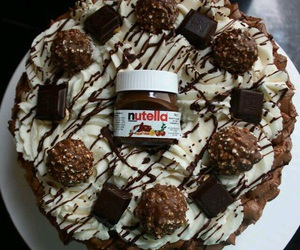 chocolate, nutella, and cake image