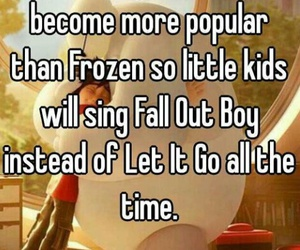 frozen, fall out boy, and big hero 6 image