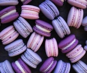 purple, food, and macaroons image