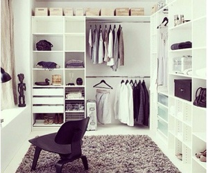 white, closet, and clothes image