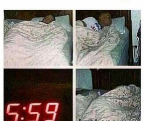 alarm, funny, and lol image