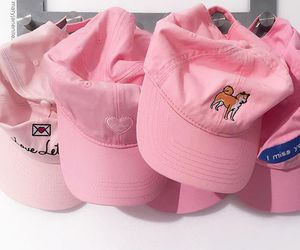 pink, cap, and hat image