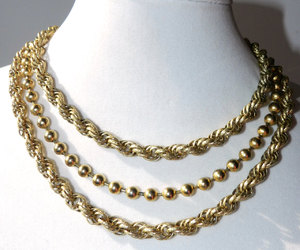 costume jewelry, gold tone, and etsy image