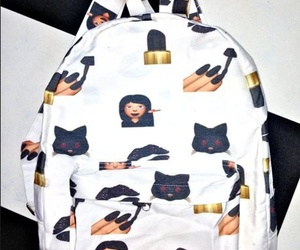 black, emoji, and backpack image