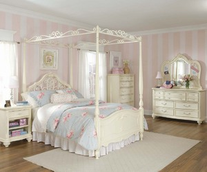 bedroom, pastel, and white image