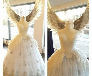 angel, dress, and white image