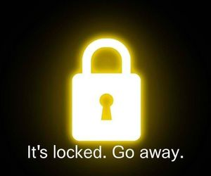 wallpaper, locked, and go away image