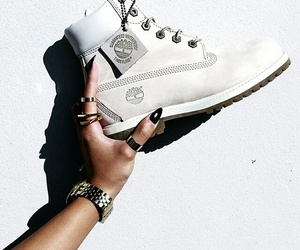 timberland and white image