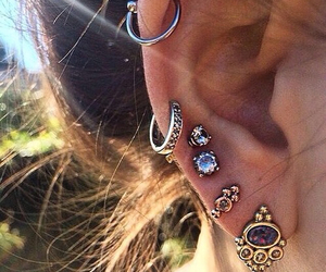 beautiful, earrings, and indie image