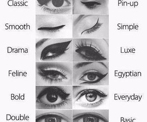 eye, eyes makeup, and eyeliner image