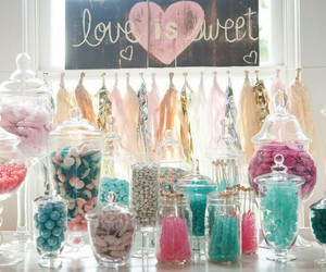 candy and wedding image