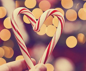 christmas, heart, and candy image