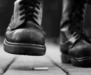 cigarette, black, and boots image