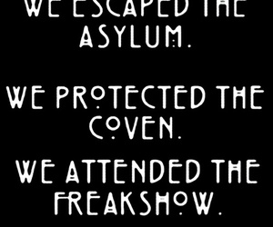 asylum, freakshow, and coven image