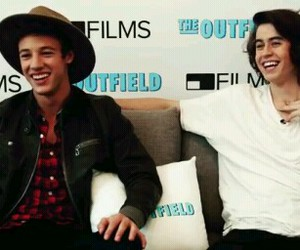 cash, the outfield, and cameron dallas image