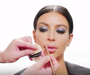 glossy lips, kim kardashian, and big eyelashes image